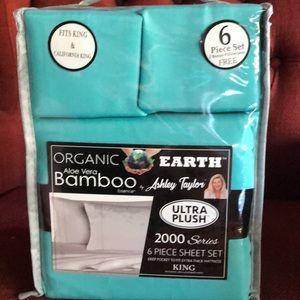 Bamboo 6 pc Sheet set King turquoise